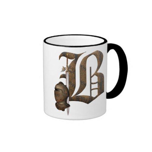Rusty Knights Initial B Coffee Mugs