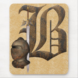 Rusty Knights Initial B Mouse Pad