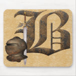 Rusty Knights Initial B Mouse Pads