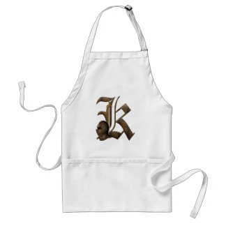 Rusty Knights Initial K Aprons