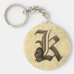 Rusty Knights Initial K Keychain