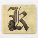 Rusty Knights Initial K Mouse Pad