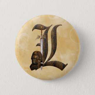 Rusty Knights Initial L Button