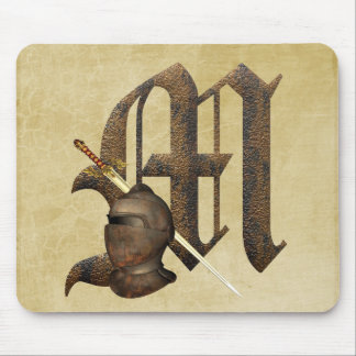 Rusty Knights Initial M Mouse Pad
