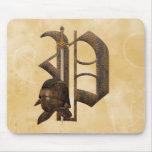 Rusty Knights Initial P Mouse Pad