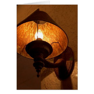 Rusty Lamp Fire Greeting Cards