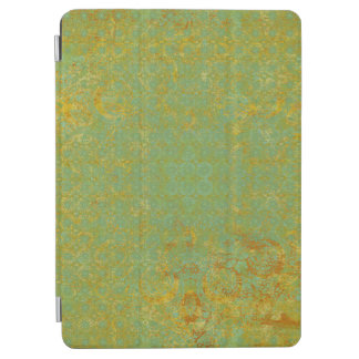 Rusty LIme Green Pattern Background iPad Air Cover