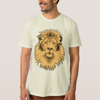 Rusty Lion Head Organic Tee Shirt