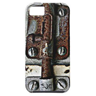 Rusty Lock Bolted Shut with Personalized Initials iPhone 5 Case