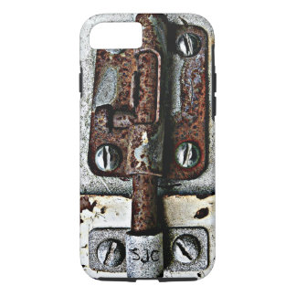 Rusty Lock Bolted Shut with Personalized Initials iPhone 8/7 Case