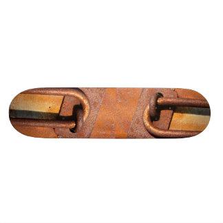 Rusty lock details skateboard