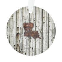 Rusty Louisiana Shape Ornament
