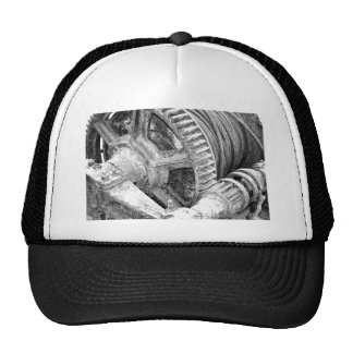 Rusty machinery trucker hat