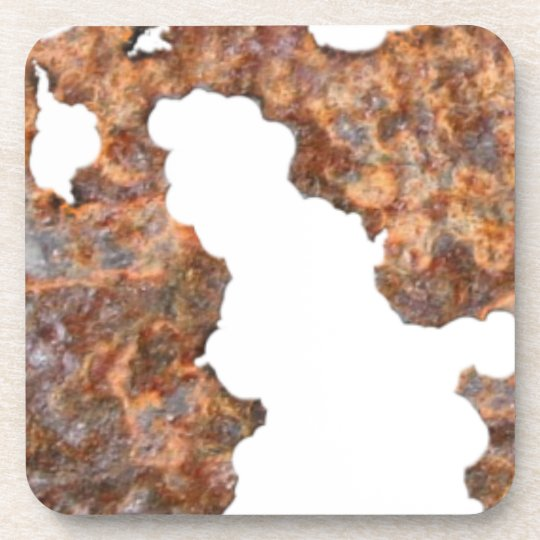 Rusty Metal Funny Corroded Steel Gift Coaster