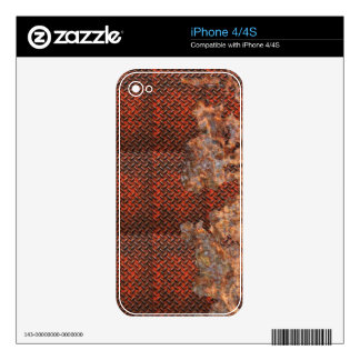 Rusty Metal Funny Corroded Steel Gift iPhone 4S Skin