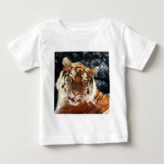 Rusty Metal Grunge Tiger Baby T-Shirt