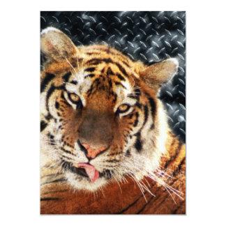 Rusty Metal Jungle Grunge Tiger Card