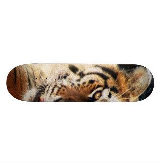 Rusty Metal Jungle Grunge Tiger Skateboard
