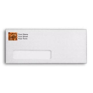 Rusty metal pipes envelope