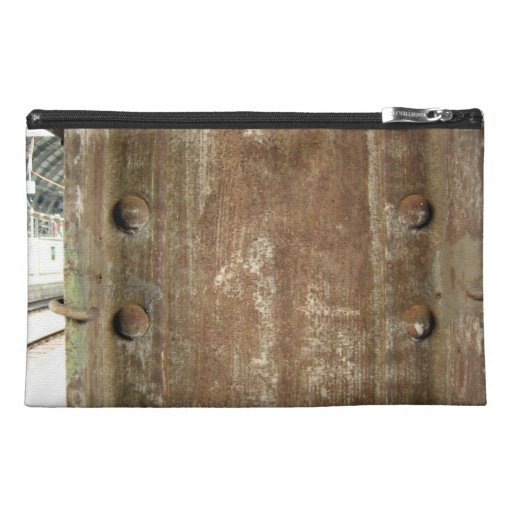Rusty Metal Plate with screws Travel Accessory Bag