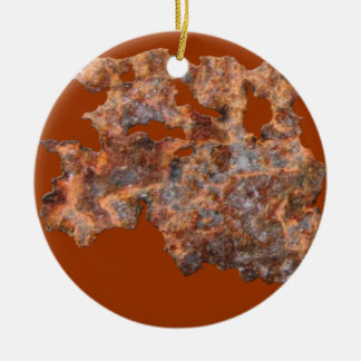 Rusty Metal Rustic Corroded Tin-effect Ornament