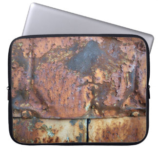 Rusty Metal Siding Old Industrial Building Computer Sleeve