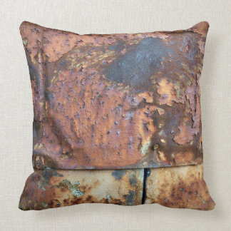Rusty Metal Siding Old Industrial Building Pillow