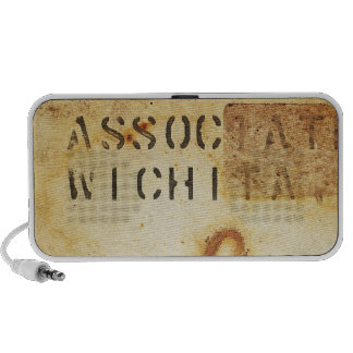 Rusty Metal Texture 4 Portable Music Speaker