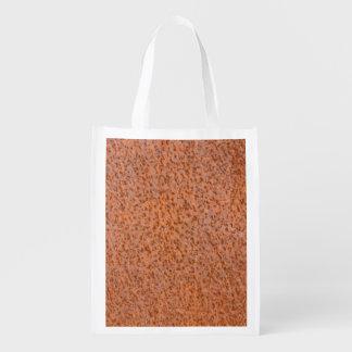 Rusty metal texture grocery bag