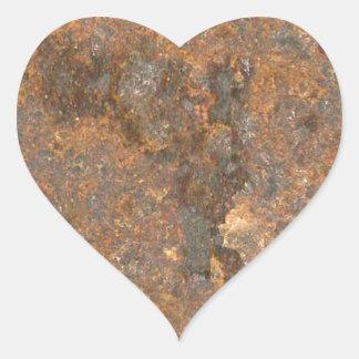 Rusty Metal Texture Heart Sticker