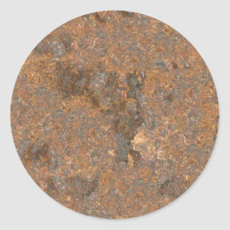 Rusty Metal Texture Round Stickers