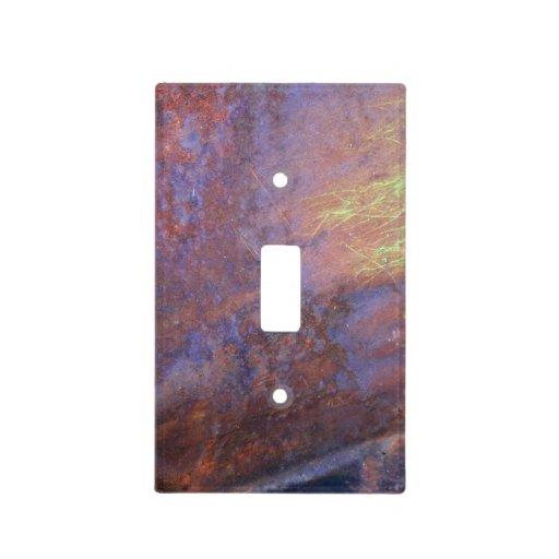 Rusty Metal Tin Roof Light Switch Plates