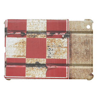 Rusty Metal w/ Red Squares Texture iPad Case