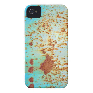 Rusty Metal With Blue Scratched Paint Case-Mate iPhone 4 Case