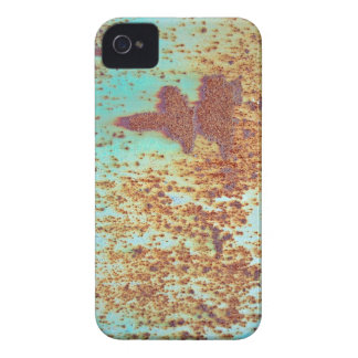 Rusty Metal With Blue Scratched Paint Case-Mate iPhone 4 Cases