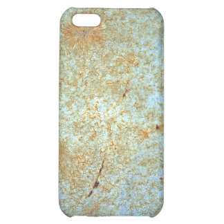 Rusty metal with blue scratched paint. iPhone 5C covers