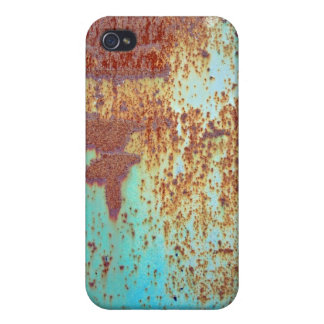 Rusty Metal With Blue Scratched Paint iPhone 4/4S Cover