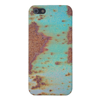 Rusty Metal With Blue Scratched Paint Cover For iPhone 5