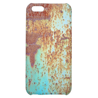 Rusty Metal With Blue Scratched Paint iPhone 5C Cases