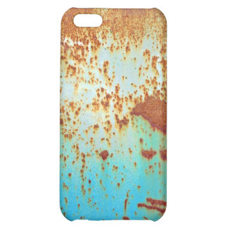 Rusty Metal With Blue Scratched Paint iPhone 5C Cover