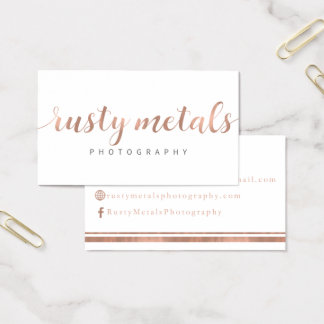 Rusty Metals Custom Business Cards