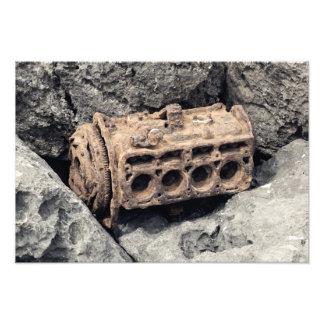 Rusty motor photo print