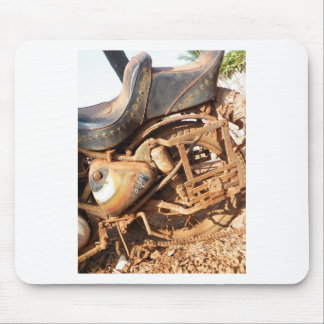 Rusty Motorbike Mouse Pad