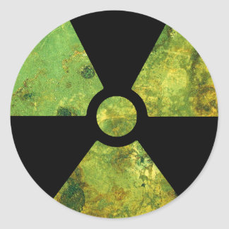 Rusty Nuclear Radiation Warning Symbol Classic Round Sticker
