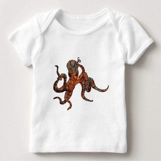 Rusty Octopus Baby T-Shirt