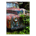 Rusty Old Antique Truck Stationery Note Card