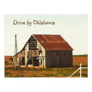 Rusty Old Barn in Oklahoma Postcard