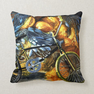 Rusty old Bicycle Throw Pillow
