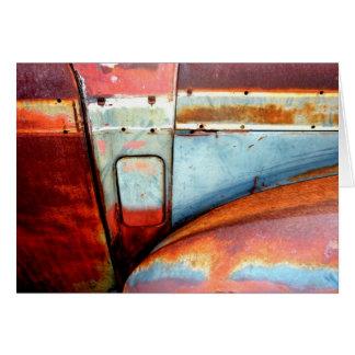 Rusty Old Car Card