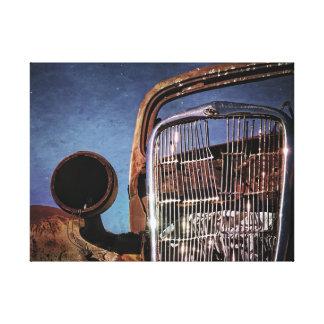 Rusty Old Car Grill Canvas Print